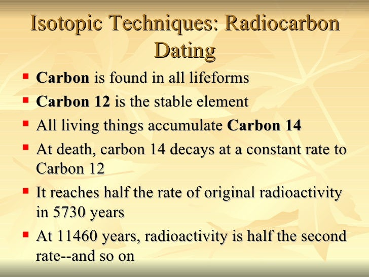 Carbon dating dictionary