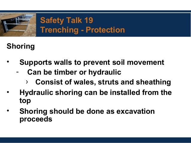 56 Safety Talk 19 Trenching