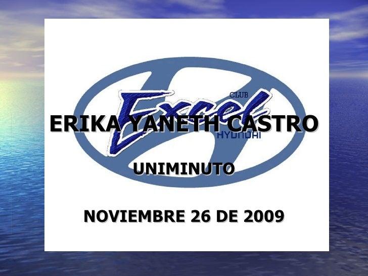 ERIKA YANETH CASTRO UNIMINUTO NOVIEMBRE 26 DE 2009