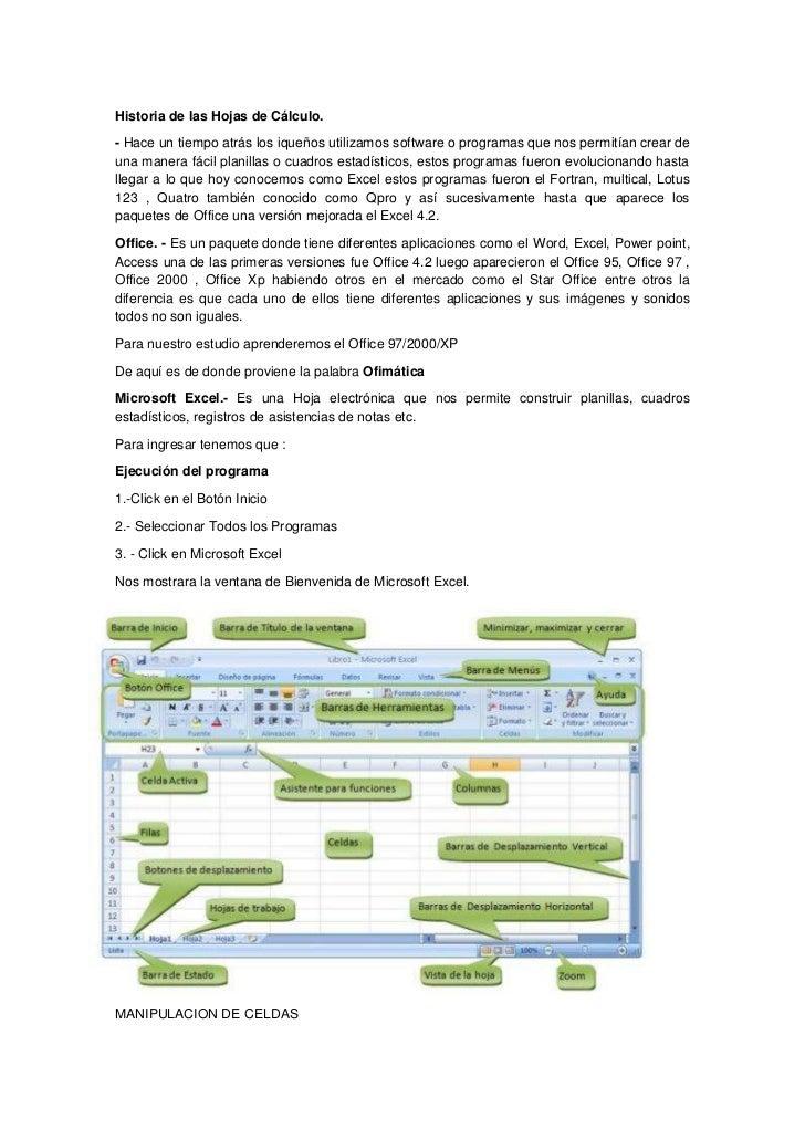 """HYPERLINK """"http://www.monografias.com/Historia/index.shtml"""" Historia de las Hojas de Cálculo.<br />- Hace un tiempo atrás..."""