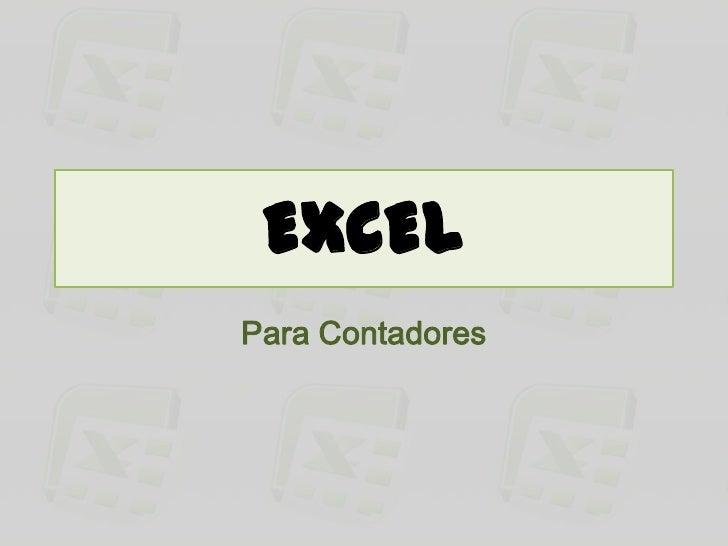 EXCELPara Contadores