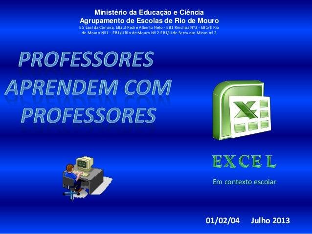 Ministério da Educação e Ciência Agrupamento de Escolas de Rio de Mouro E S Leal da Câmara, EB2,3 Padre Alberto Neto - EB1...