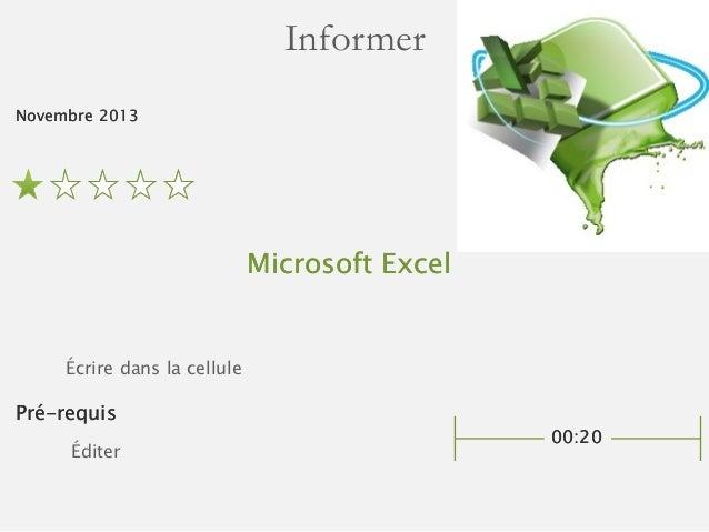 Saisir du texte dans les cellules de Microsoft Excel Slide 2