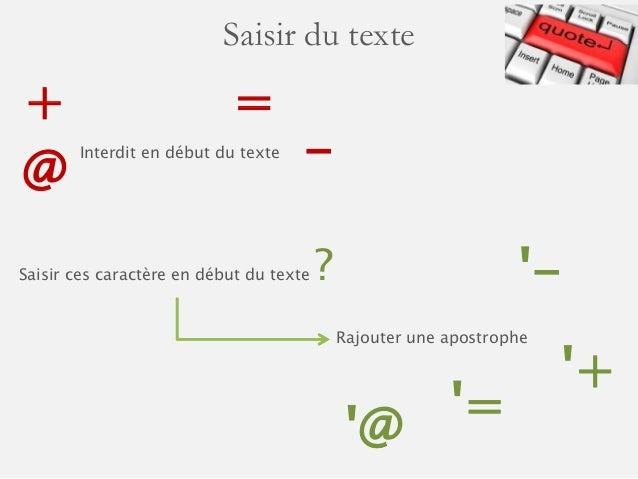 Saisir du texte dans les cellules de Microsoft Excel Slide 3