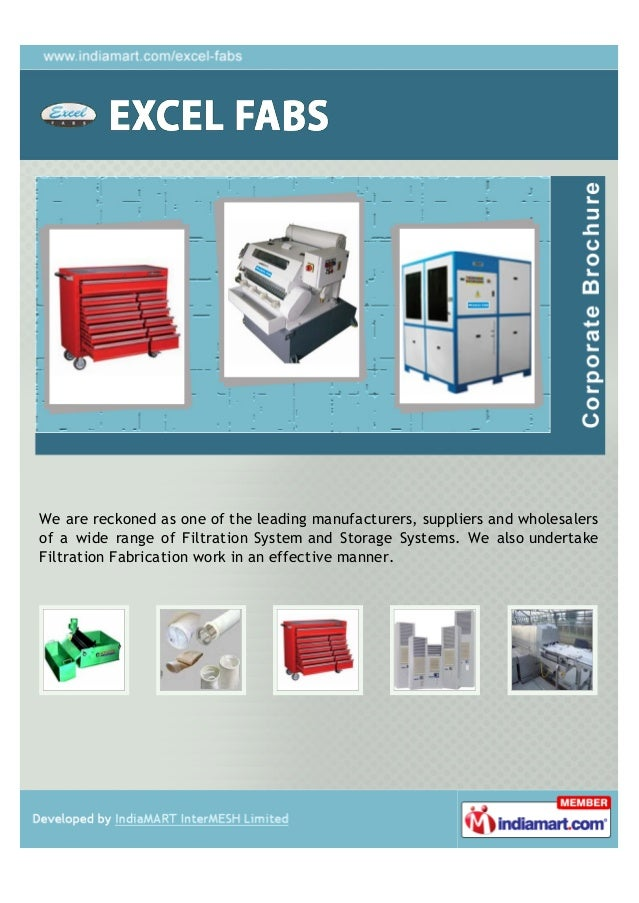 We are reckoned as one of the leading manufacturers, suppliers and wholesalersof a wide range of Filtration System and Sto...