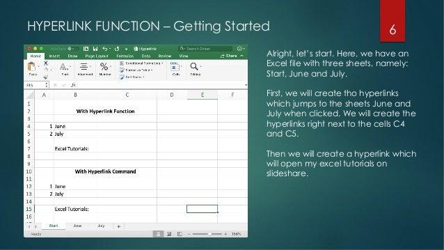 Excel Tutorials - Creating a Hyperlink in Excel