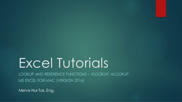 Excel Tutorials - VLOOKUP and HLOOKUP Functions