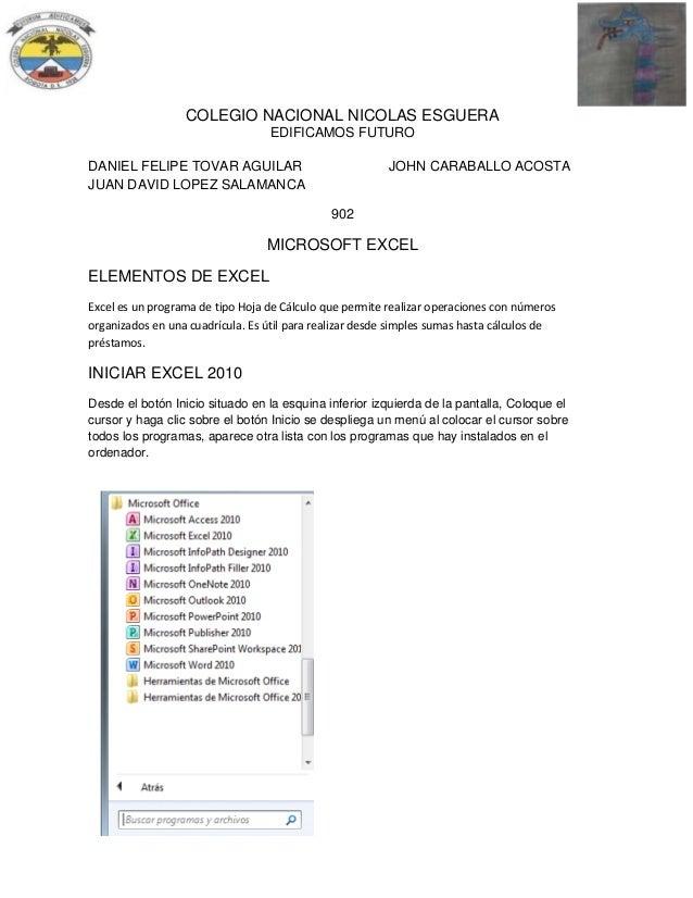 COLEGIO NACIONAL NICOLAS ESGUERA EDIFICAMOS FUTURO DANIEL FELIPE TOVAR AGUILAR JUAN DAVID LOPEZ SALAMANCA  JOHN CARABALLO ...