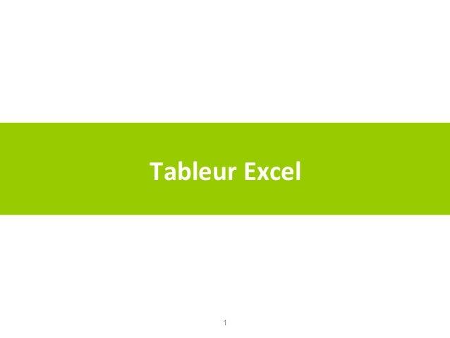 Tableur Excel  1