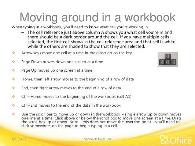 MS Excel 2010 training module