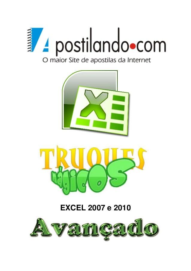 EXCEL 2007 e 2010