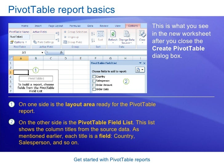 excel 2007 get started with pivot table reports