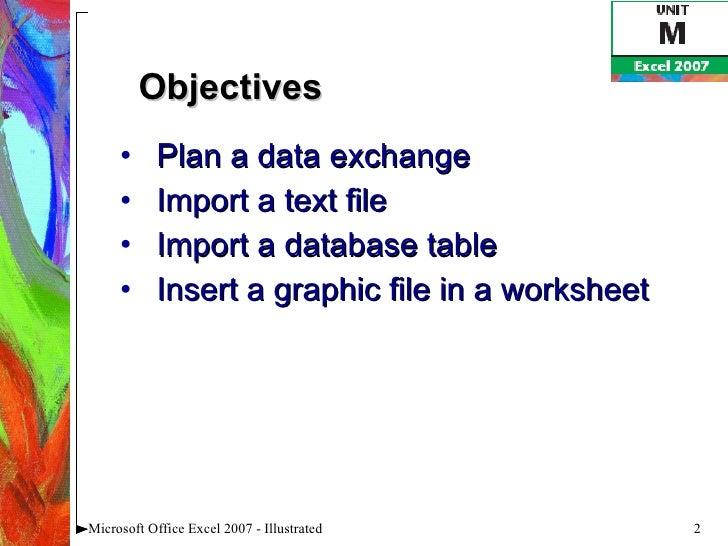 Excel 2007 Unit M