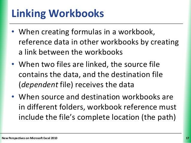 Tutorial 6: Multiple Worksheets and Workbooks