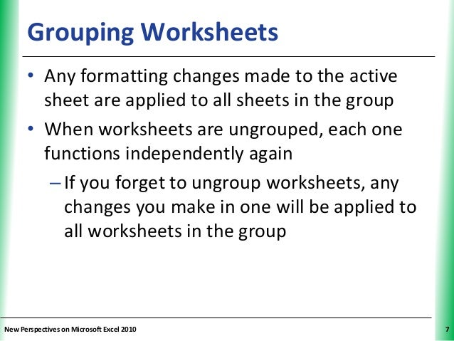 Tutorial 6 Multiple Worksheets and Workbooks – Excel Group Worksheets