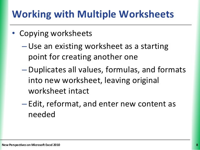 Tutorial 6 Multiple Worksheets and Workbooks – Multiple Worksheets