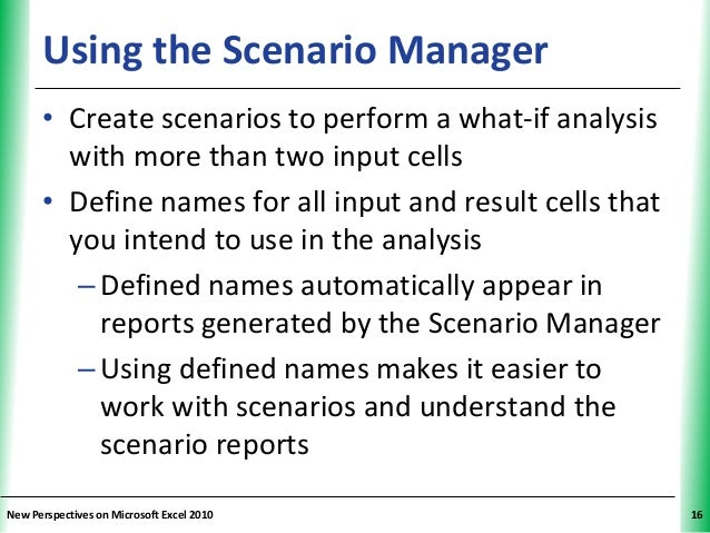 differentiating what if analysis from scenario Differentiating what-if analysis from scenario planning introduction be gone are the days when annual budgeting and planning steered the businesses, with changes being quiet predictable and minimal.