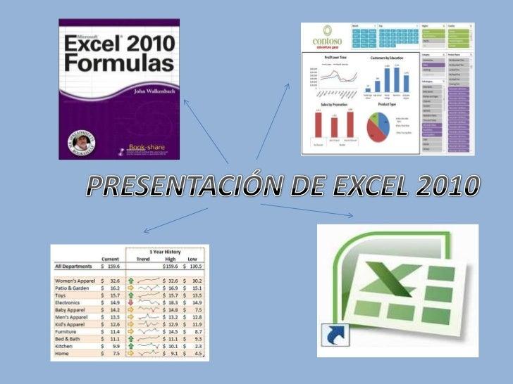 PRESENTACIÓN DE EXCEL 2010<br />