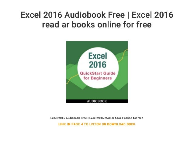 excel 2016 audiobook free excel 2016 read ar books online for free