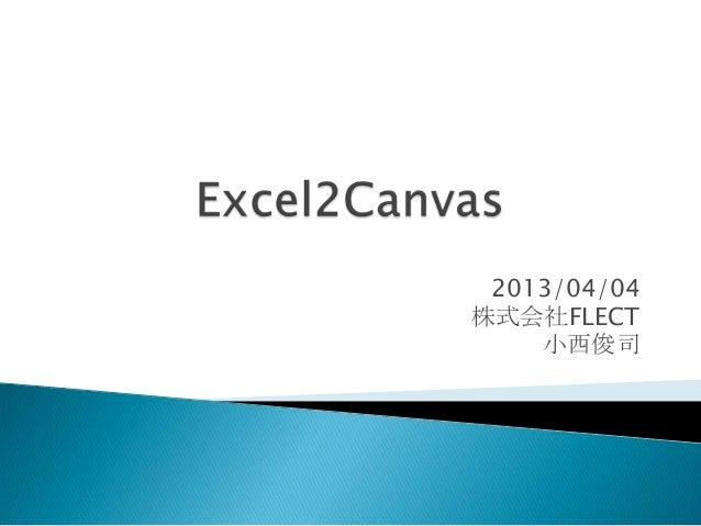 2013/04/04株式会社FLECT    小西俊司