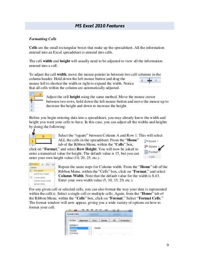 MS Excel 2010 tutorial 4