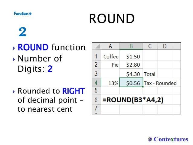 round excel