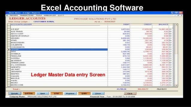 Accounting ledger excel software free