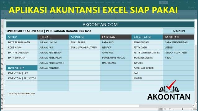 Excel Akuntansi Perusahaan Manufaktur Dagang Jasa