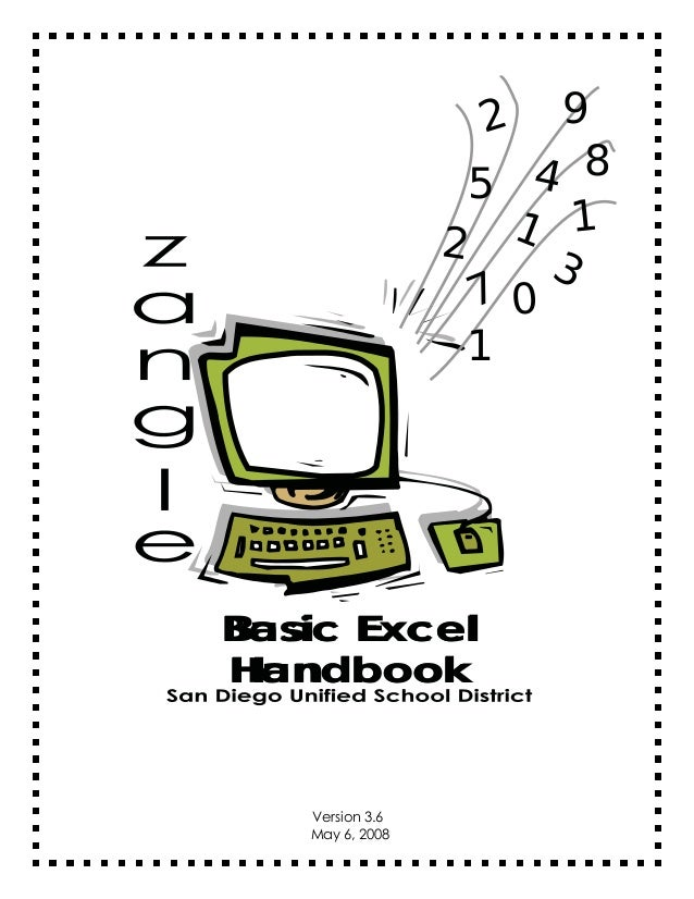 9 4 8 5 1 1 2 3 70 1 2  Basic Excel Handbook  Version 3.6 May 6, 2008