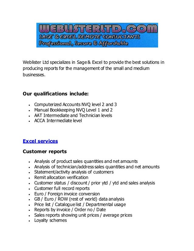 excel consulting services