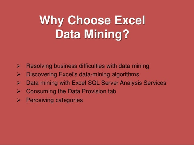 an analysis of the four main tasks of data mining in business world One typical data mining analysis on such data is the so-called market descriptive data mining tasks that describe has attracted considerable attention given the potential implications of successful forecasting in a business context there are two major types of.