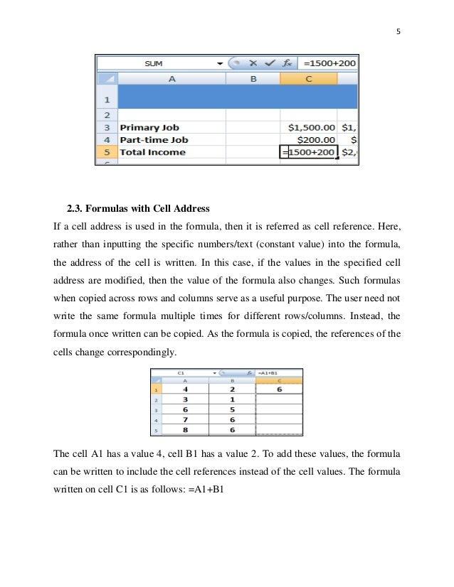 Excel (E-Module 2)
