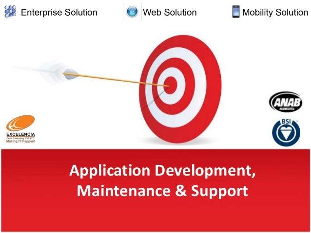 Application Development, Maintenance & Support