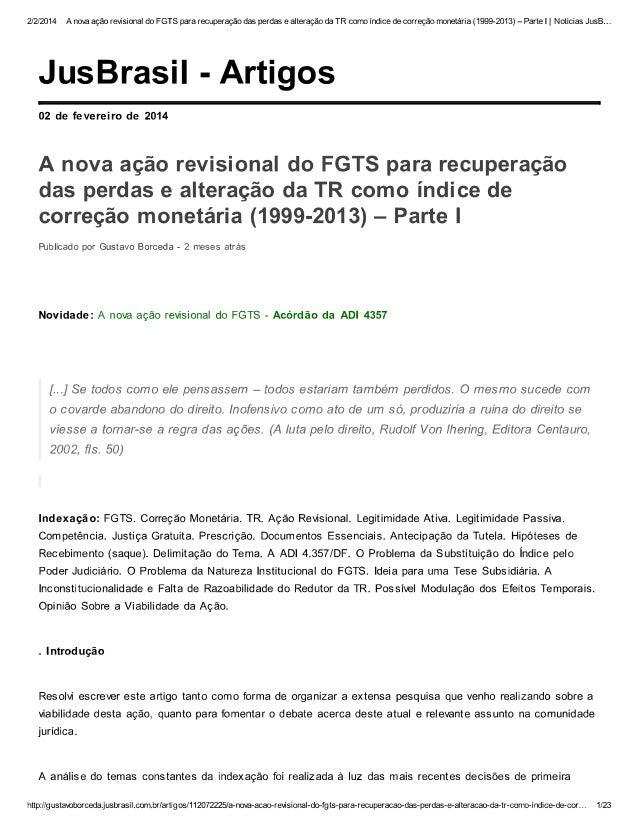 Sentença Favorável à Nova Ação do FGTS