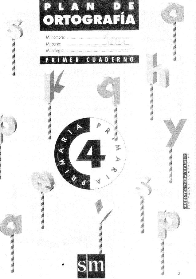 Excelente cuadernillo 4o grado plan de ortografía sm, cuaderno 1