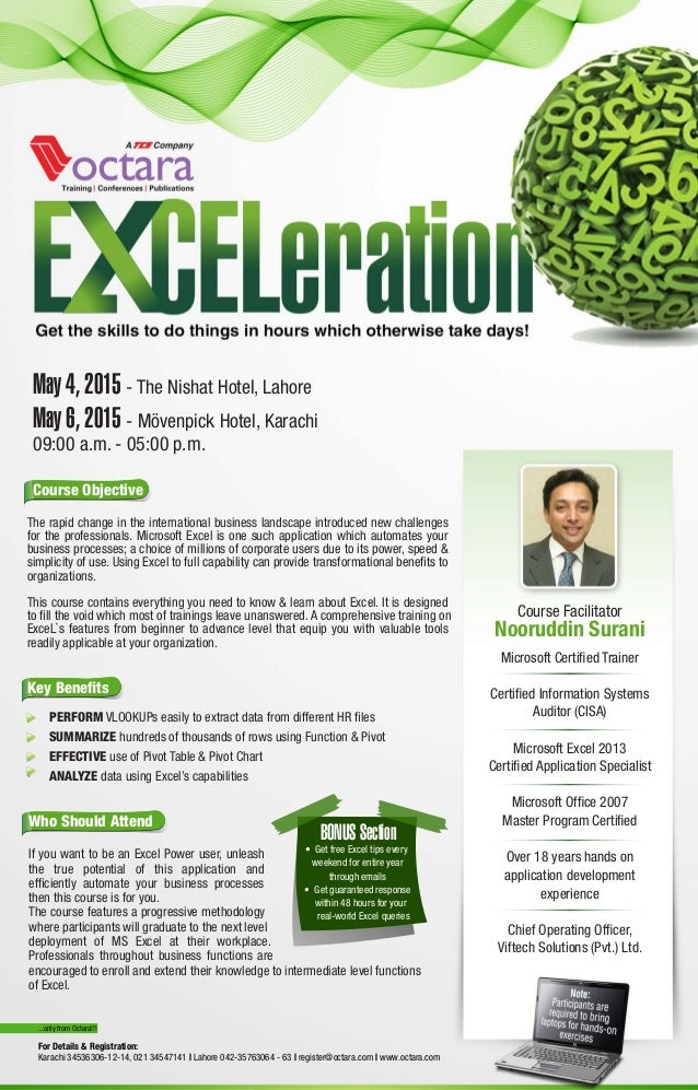 Advanced Excel Training By Octara Exceleration