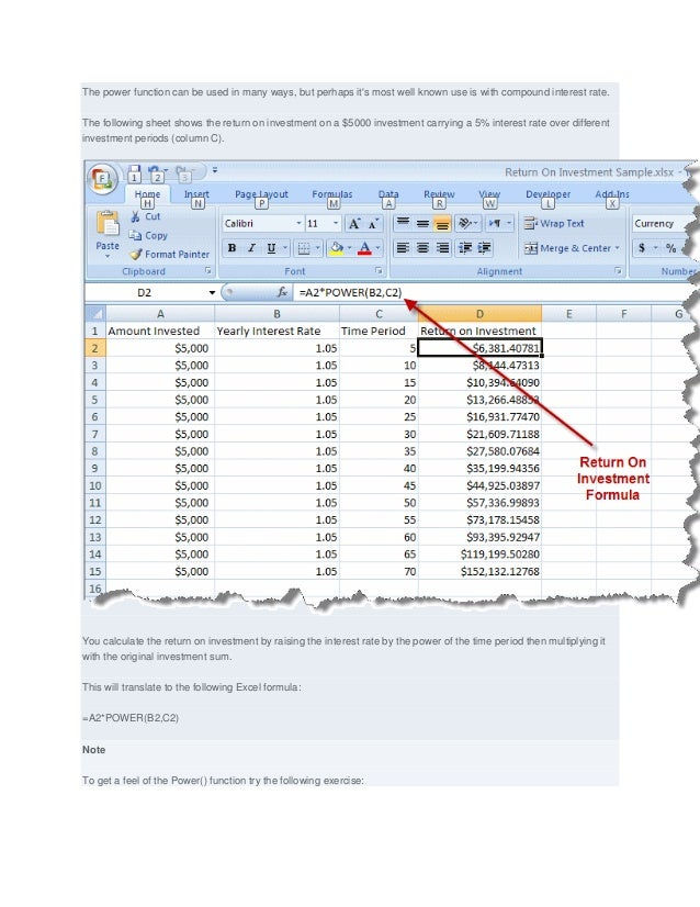 how to write 10 raise to power in excel