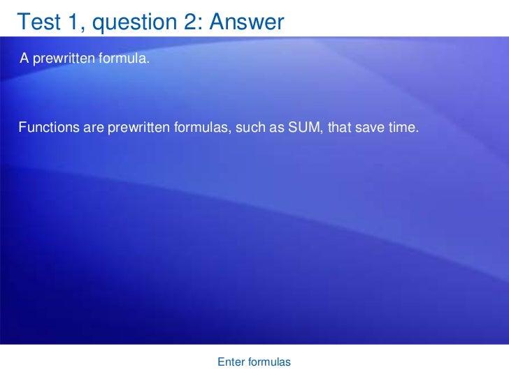 Enter Formulas 21 Test 1