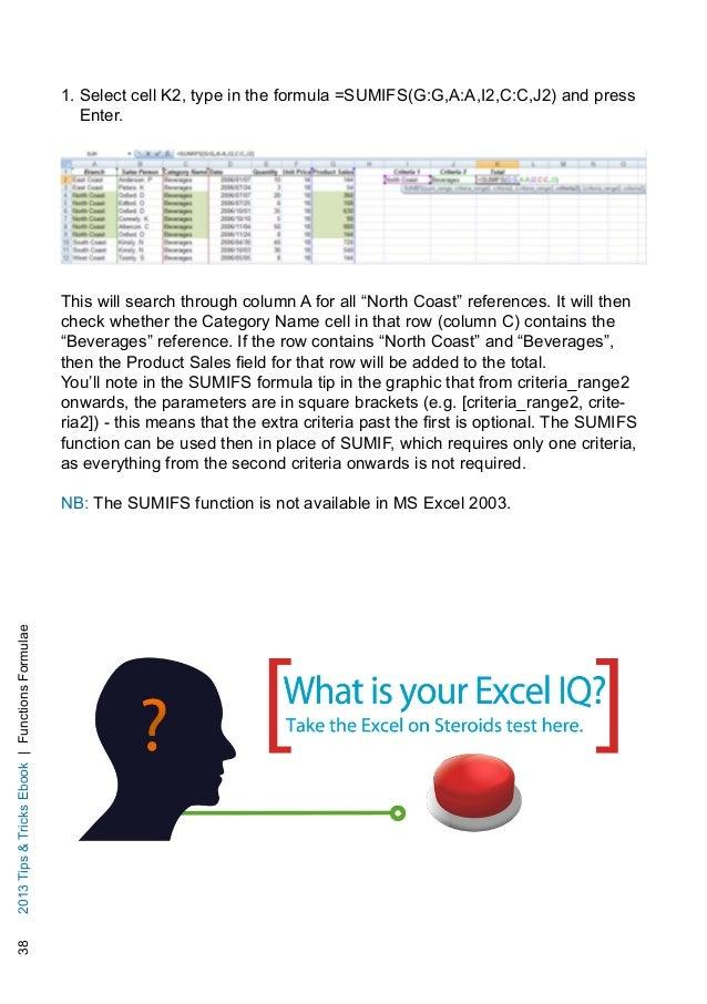 excel formula tips and tricks pdf