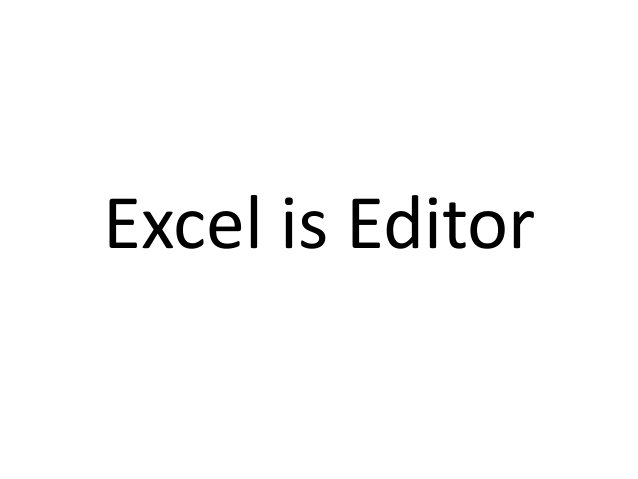 Excel is not Editorbut Image Viewer