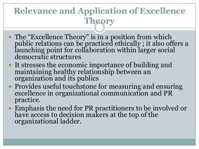 The Public Relations Excellence Theory of Grunig, Grunig, and Dozier: A bibliography.