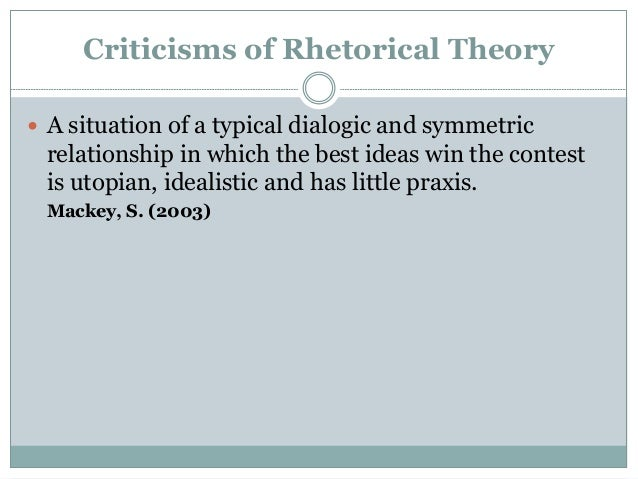 define rhetorical criticism