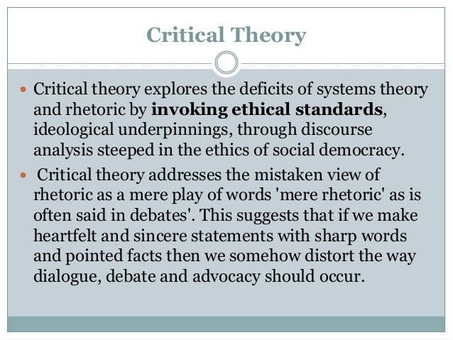 a critical understanding of the theories