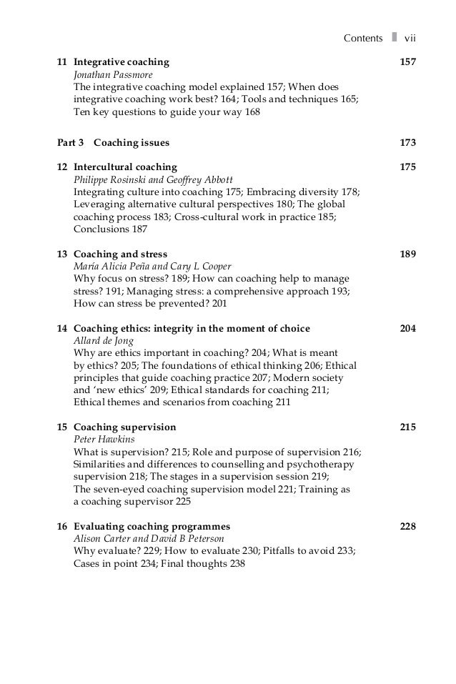Excellence In Coaching The Industry Guide