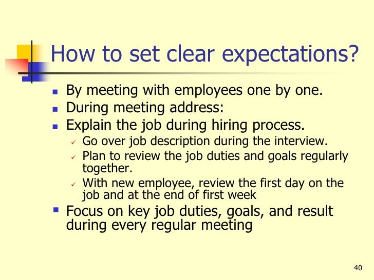 The Expectations of Employers & Employees at a New Job