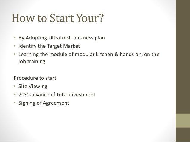 kitchen business plan
