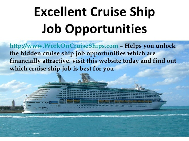 Excellent Cruise Ship Job Opportunities
