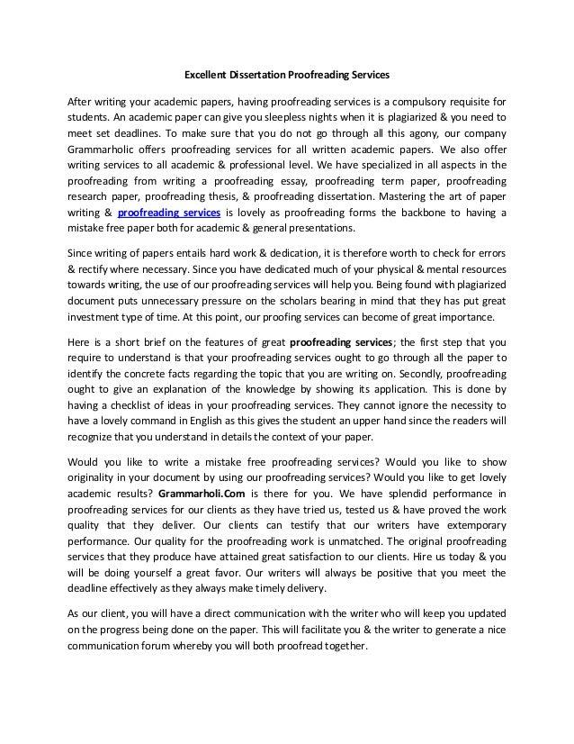 Dissertation proofreading services online