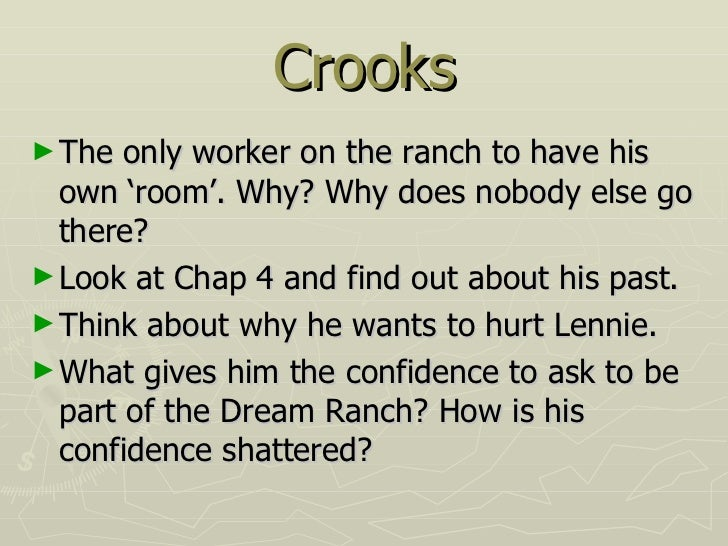 crooks diary entry