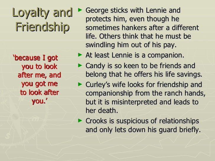 of mice and men lennie prejudice ^^^ is a scene from of mice & men this is when lennie and crooks have the one sided conversation about companionship and friendship in the novella crooks is an african american stable-hand.
